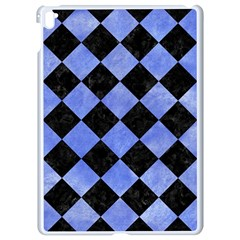 Square2 Black Marble & Blue Watercolor Apple Ipad Pro 9 7   White Seamless Case