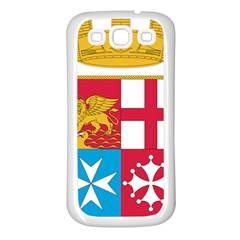 Coat Of Arms Of The Italian Navy Samsung Galaxy S3 Back Case (white)