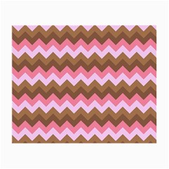 Shades Of Pink And Brown Retro Zigzag Chevron Pattern Small Glasses Cloth