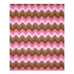 Shades Of Pink And Brown Retro Zigzag Chevron Pattern Shower Curtain 60  X 72  (medium)