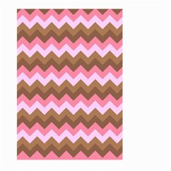 Shades Of Pink And Brown Retro Zigzag Chevron Pattern Large Garden Flag (two Sides)