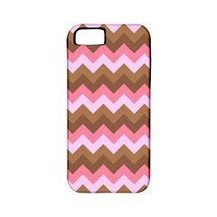 Shades Of Pink And Brown Retro Zigzag Chevron Pattern Apple Iphone 5 Classic Hardshell Case (pc+silicone)