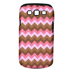 Shades Of Pink And Brown Retro Zigzag Chevron Pattern Samsung Galaxy S Iii Classic Hardshell Case (pc+silicone)