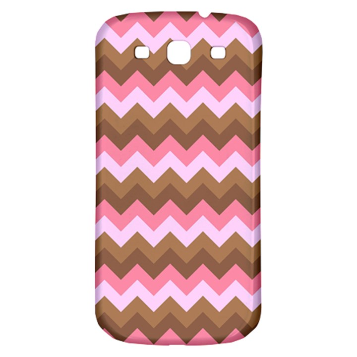 Shades Of Pink And Brown Retro Zigzag Chevron Pattern Samsung Galaxy S3 S III Classic Hardshell Back Case