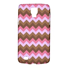 Shades Of Pink And Brown Retro Zigzag Chevron Pattern Galaxy S4 Active