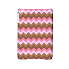 Shades Of Pink And Brown Retro Zigzag Chevron Pattern Ipad Mini 2 Hardshell Cases