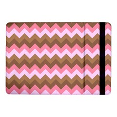 Shades Of Pink And Brown Retro Zigzag Chevron Pattern Samsung Galaxy Tab Pro 10 1  Flip Case