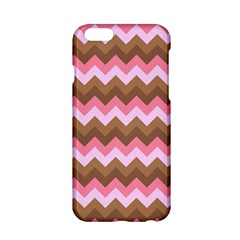 Shades Of Pink And Brown Retro Zigzag Chevron Pattern Apple Iphone 6/6s Hardshell Case