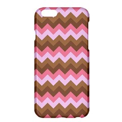 Shades Of Pink And Brown Retro Zigzag Chevron Pattern Apple Iphone 6 Plus/6s Plus Hardshell Case