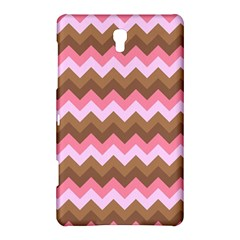 Shades Of Pink And Brown Retro Zigzag Chevron Pattern Samsung Galaxy Tab S (8 4 ) Hardshell Case