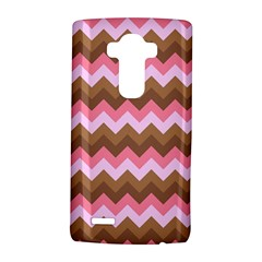 Shades Of Pink And Brown Retro Zigzag Chevron Pattern Lg G4 Hardshell Case