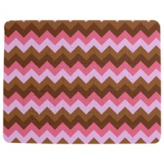 Shades Of Pink And Brown Retro Zigzag Chevron Pattern Jigsaw Puzzle Photo Stand (rectangular)