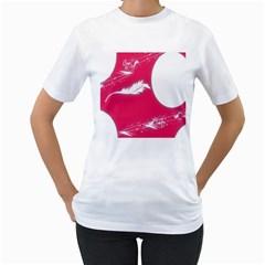 Hintergrund Tapete Texture Women s T Shirt (white)