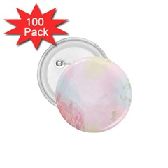 Watercolor Floral 1 75  Buttons (100 Pack)