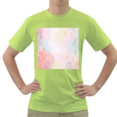 Watercolor Floral Green T Shirt
