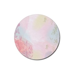 Watercolor Floral Rubber Coaster (round)