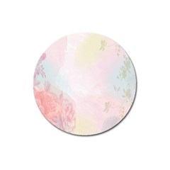 Watercolor Floral Magnet 3  (round)