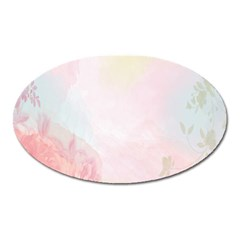 Watercolor Floral Oval Magnet