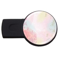 Watercolor Floral Usb Flash Drive Round (2 Gb)