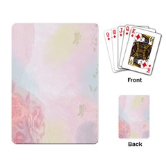 Watercolor Floral Playing Card