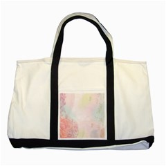 Watercolor Floral Two Tone Tote Bag