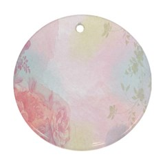 Watercolor Floral Round Ornament (two Sides)