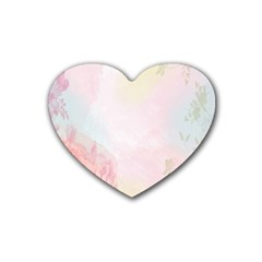Watercolor Floral Heart Coaster (4 Pack)