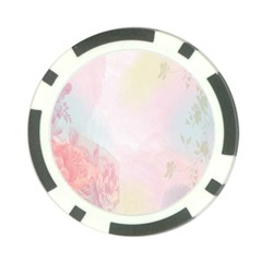 Watercolor Floral Poker Chip Card Guard