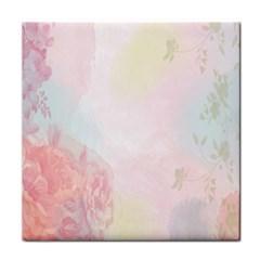 Watercolor Floral Face Towel