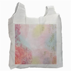 Watercolor Floral Recycle Bag (two Side)