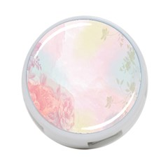 Watercolor Floral 4 Port Usb Hub (two Sides)