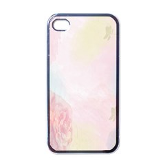 Watercolor Floral Apple Iphone 4 Case (black)