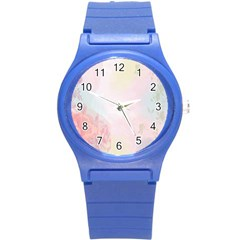 Watercolor Floral Round Plastic Sport Watch (s)