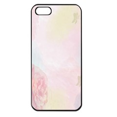 Watercolor Floral Apple Iphone 5 Seamless Case (black)