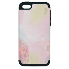 Watercolor Floral Apple Iphone 5 Hardshell Case (pc+silicone)