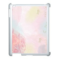 Watercolor Floral Apple Ipad 3/4 Case (white)