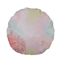 Watercolor Floral Standard 15  Premium Round Cushions