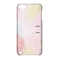 Watercolor Floral Apple Ipod Touch 5 Hardshell Case With Stand