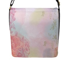 Watercolor Floral Flap Messenger Bag (l)