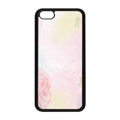 Watercolor Floral Apple Iphone 5c Seamless Case (black)