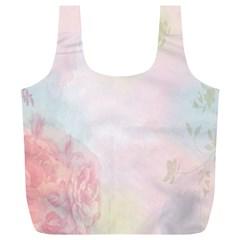 Watercolor Floral Full Print Recycle Bags (l)