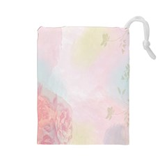 Watercolor Floral Drawstring Pouches (large)