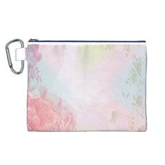 Watercolor Floral Canvas Cosmetic Bag (l)
