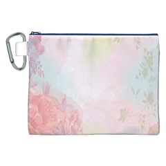 Watercolor Floral Canvas Cosmetic Bag (xxl)