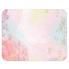 Watercolor Floral Double Sided Flano Blanket (medium)