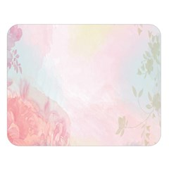 Watercolor Floral Double Sided Flano Blanket (large)
