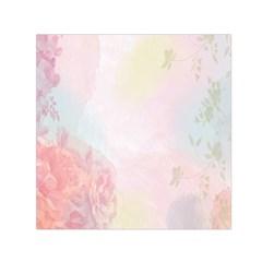 Watercolor Floral Small Satin Scarf (square)