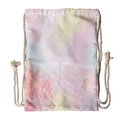 Watercolor Floral Drawstring Bag (large)