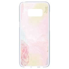 Watercolor Floral Samsung Galaxy S8 White Seamless Case