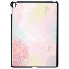 Watercolor Floral Apple Ipad Pro 9 7   Black Seamless Case